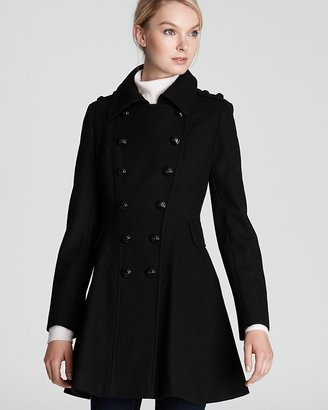 Via Spiga Novara Double Breasted Wool Blend Coat
