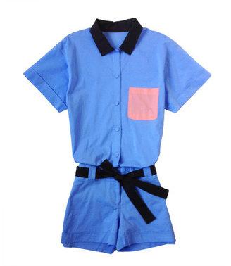 Friends & Associates Ava Belted Jumpsuit Light Blue