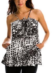 Armani Exchange Animal Print Tunic
