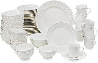 Gibson Home Antique Quilt 48-Piece Dinnerware Set