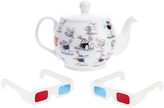 Jaguarshoes Collective 'ThreeDee' teapot