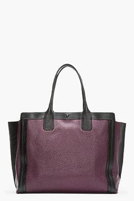 Chloé Purple Leather Alison Large Tote
