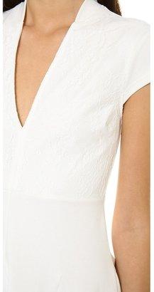 Pencey Lace Overlay Deep V Dress