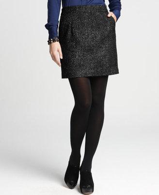 Ann Taylor Glitter Tweed Skirt