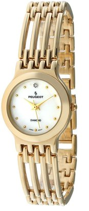 Peugeot Women's 771G Gold-Tone Genuine Diamond Bracelet Watch