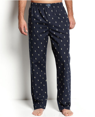 Polo Ralph Lauren Men's All Over Polo Player Pajama Pants $42 thestylecure.com