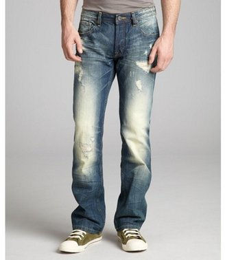 Cult of Individuality marble faded and distressed relaxed fit 'Hagan' jeans