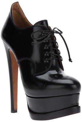 Alaia platform lace up shoe