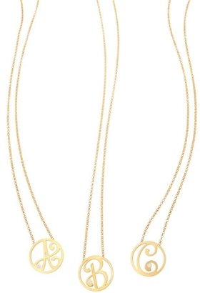 K Kane - Diamond Mini Single Initial Pendant Necklace