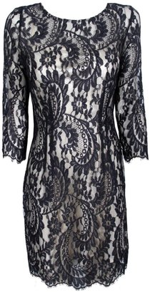 Lover Serpent Fitted Lace Dress