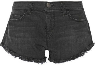 Current/Elliott The Gam cut-off stretch-denim shorts