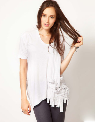 JNBY T Shirt With Lattice Detailing