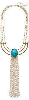 Gabriella Rocha Half Circle Long Fringe Necklace