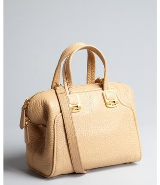 Fendi beige pebbled leather small satchel