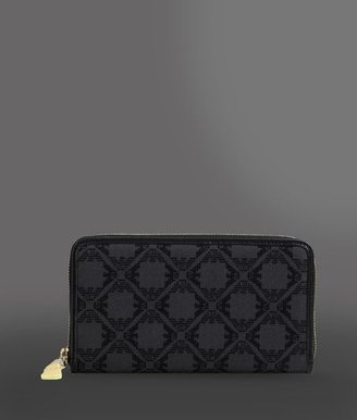 Emporio Armani Zip Wallet With All-Over Logo
