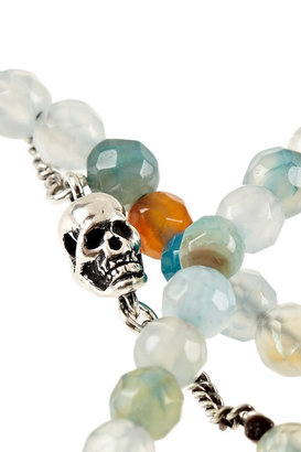 Chan Luu Silver-plated aqua and fire agate necklace