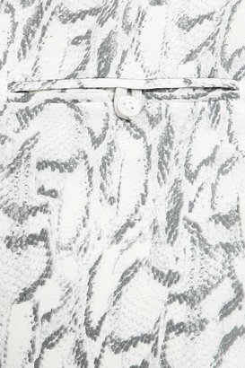 Haute Hippie Snake Print Silk Drawstring Shorts