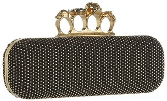 Alexander McQueen Knuckle Box Clutch Long Boxclutch (Black) - Bags and Luggage