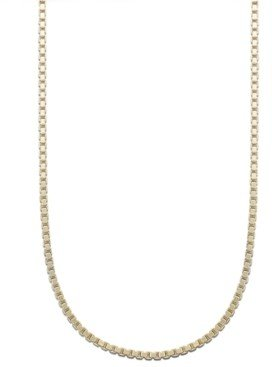 """Giani Bernini 18K Gold over Sterling Silver Necklace, 24"""" Box Chain"""