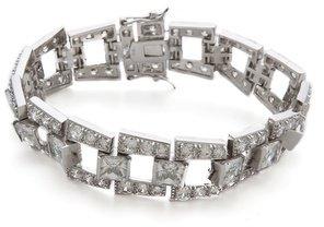 Kenneth Jay Lane Princess CZ Deco Step Bridge Bracelet