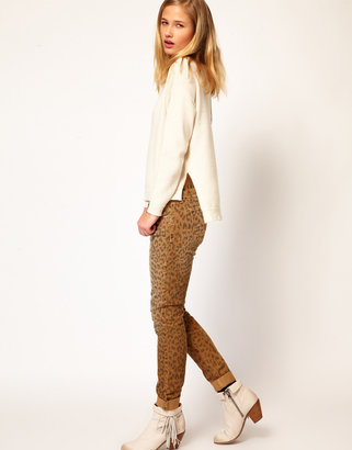 Current/Elliott Current/ Elliot Rolled Skinny In Camel Leopard Cord
