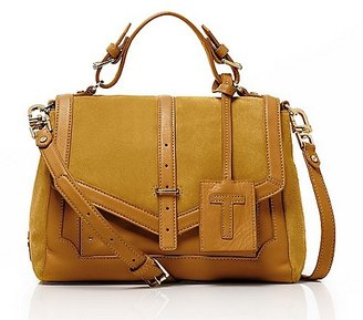 Tory Burch Suede And Leather Medium 797 Satchel
