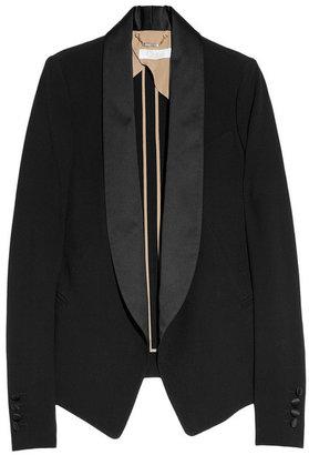 Chloé Sable satin-trimmed crepe blazer