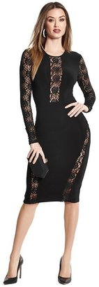 GUESS by Marciano Val Long-Sleeve Lace Dress