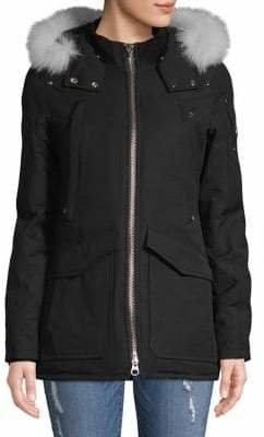 Moose Knuckles Fire River Fox Fur Trim Jacket