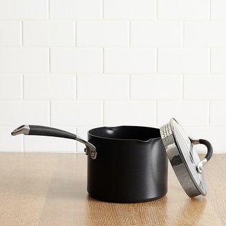 Anolon Infused Copper 3.5-Quart Straining Saucepan, Black
