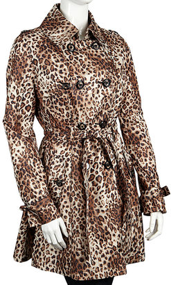 Betsey Johnson Printed Belted Raincoat