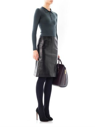 Azzedine Alaia Kick back leather skirt