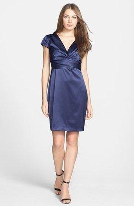 Donna Ricco Matte Stretch Satin Dress