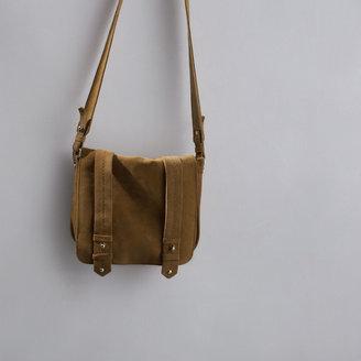 Zara Leather And Suede Messenger Bag