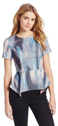 Funktional Women's Short Sleeve Peplum Top