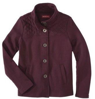 Merona Women's Single Breasted Fleece Coat -Purple