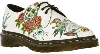 Dr. Martens tattoo print lace up shoe