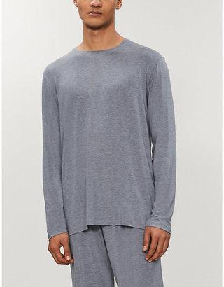 Derek Rose Men's Grey Marlowe Jersey Top, Size: L