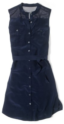 Club Monaco Lucas Silk Shirtdress