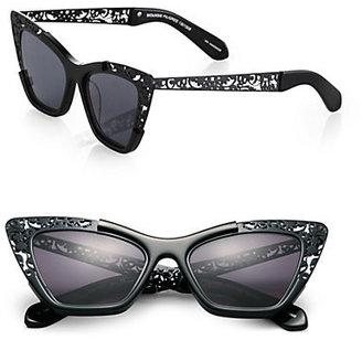 Karen Walker Siouxsie Cat's-Eye Filigree Sunglasses