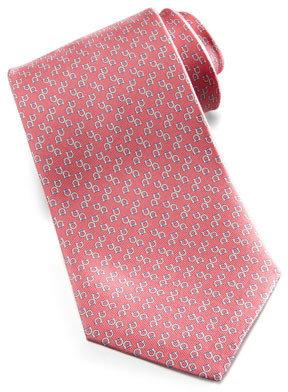 Salvatore Ferragamo Gancini Silk Tie, Pink