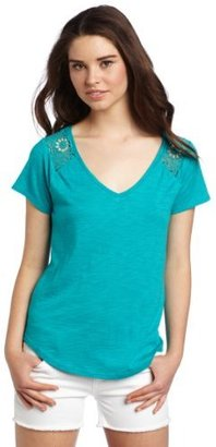 Lucky Brand Women's Collette Lace Tee