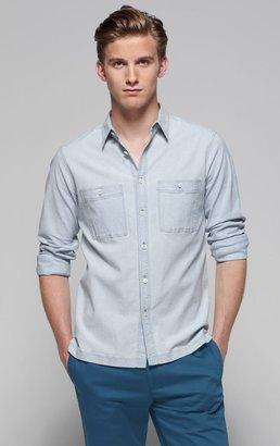 Theory Adbert Shirt in Terrigal Stretch Cotton Chambray