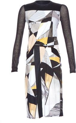 Helmut Lang Long Sleeved Cubist Print Drape