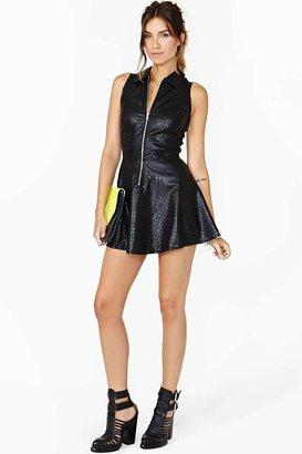 Nasty Gal Motel Anika Faux Leather Dress - Croc
