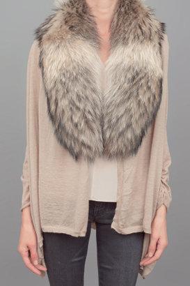 Alice + Olivia Izzy Sweater w/Fur