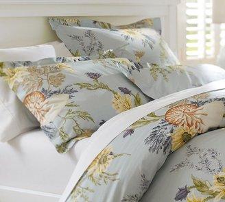 Pottery Barn Nautilus Floral Organic Duvet Cover & Sham
