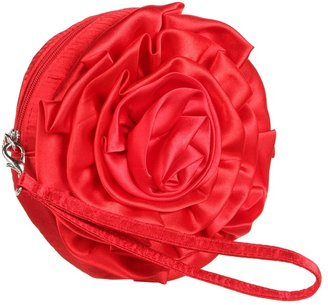 Jessica McClintock Floral Wristlet (Red) - Bags and Luggage