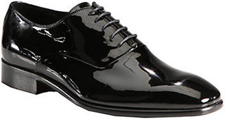 Saks Fifth Avenue Collection Patent Leather Lace-Ups