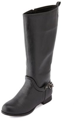 Charlotte Russe Chain Back Flat Riding Boot
